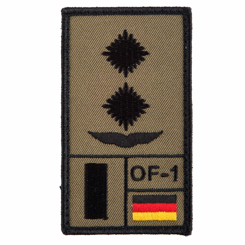 Café Viereck Rank Patch Oberleutnant Luftwaffe oliv