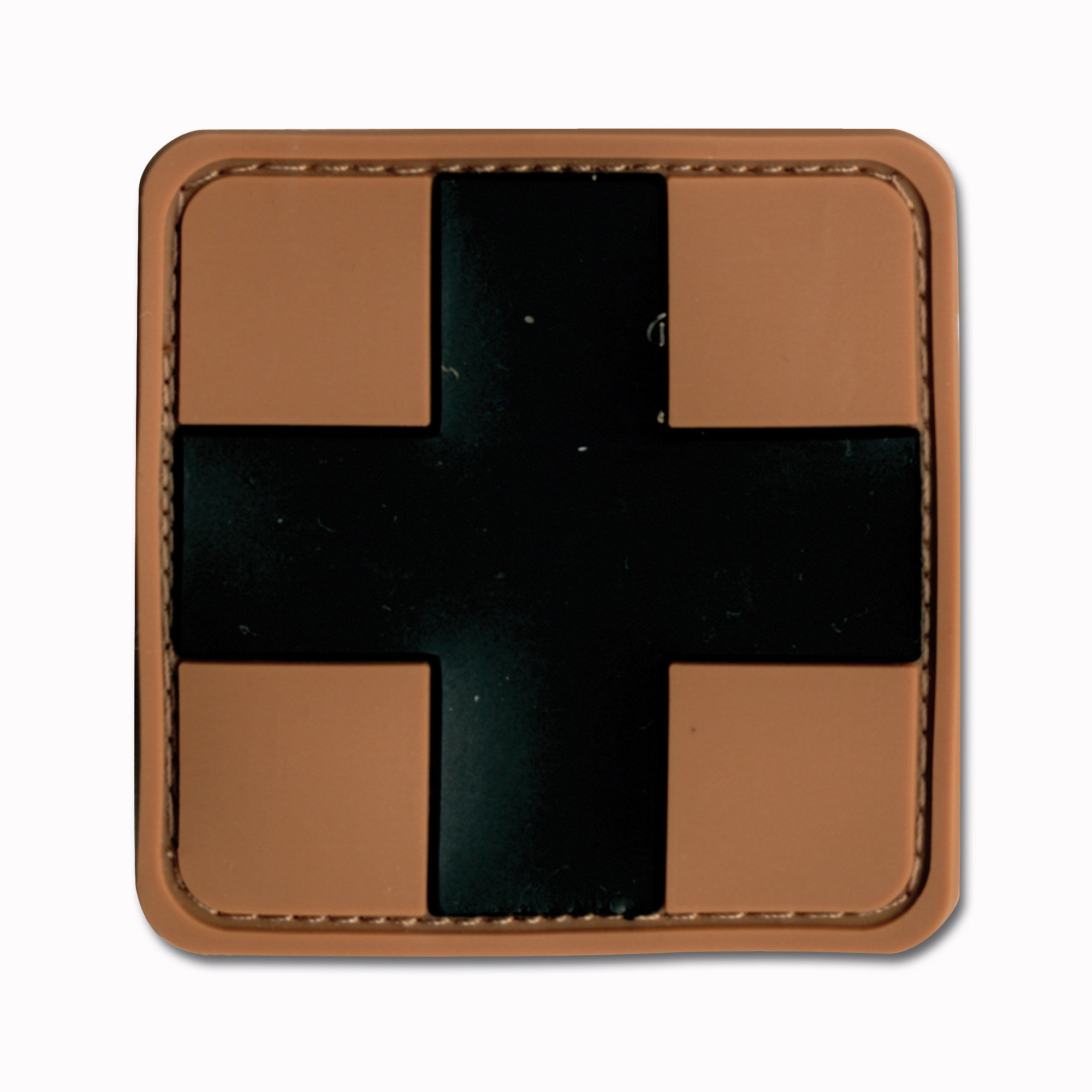 3D-Patch Red Cross Medic braun-schwarz