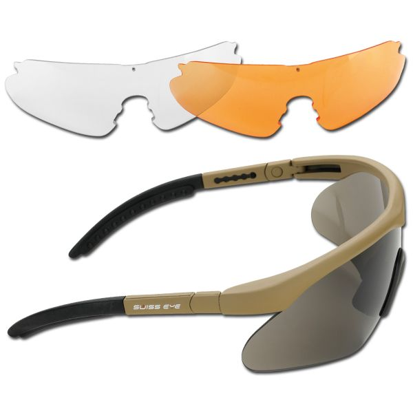 Schutzbrille Swiss Eye Raptor coyote