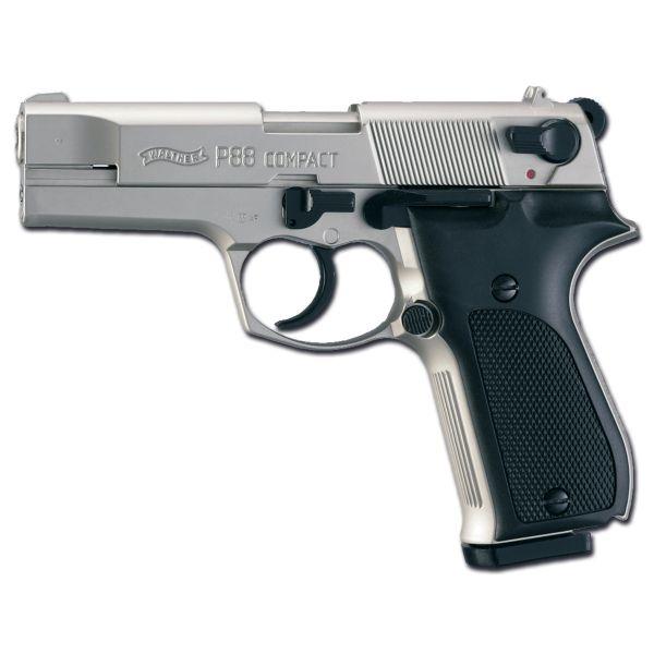Pistole Walther P88 vernickelt - schwarz