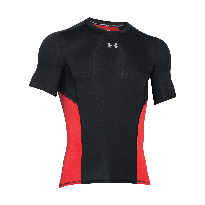 Under Armour Shirt Compressions Shortsleeve schwarz