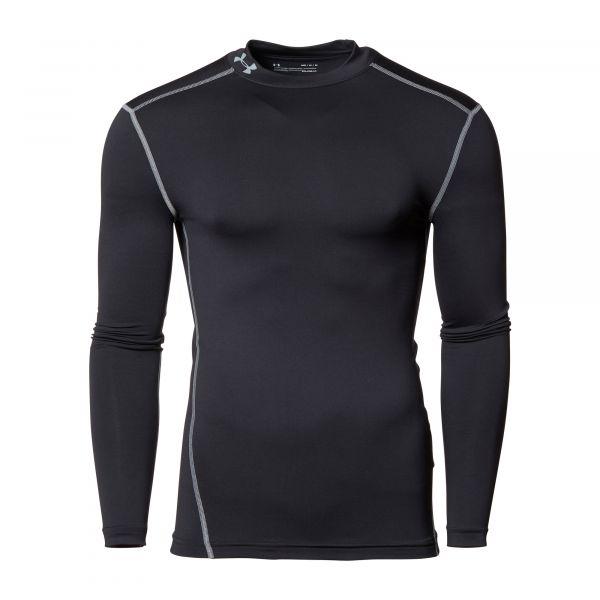 Under Armour Shirt ColdGear Compression Mock schwarz
