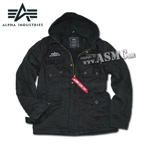 reputable site 0ed12 53f65 Alpha Industries Jacke Rod schwarz