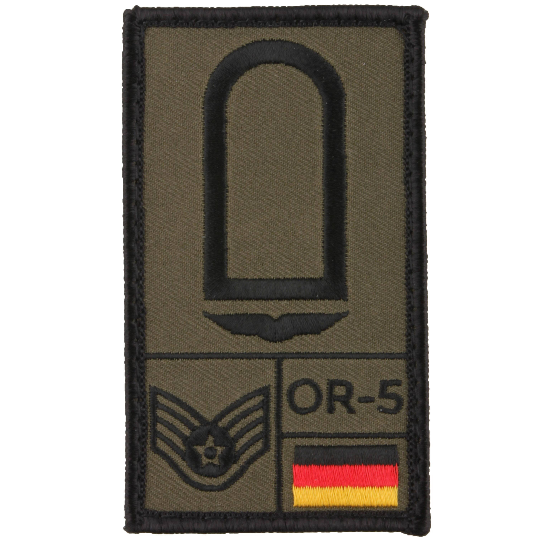 Café Viereck Rank Patch Stabsunteroffizier Luftwaffe oliv