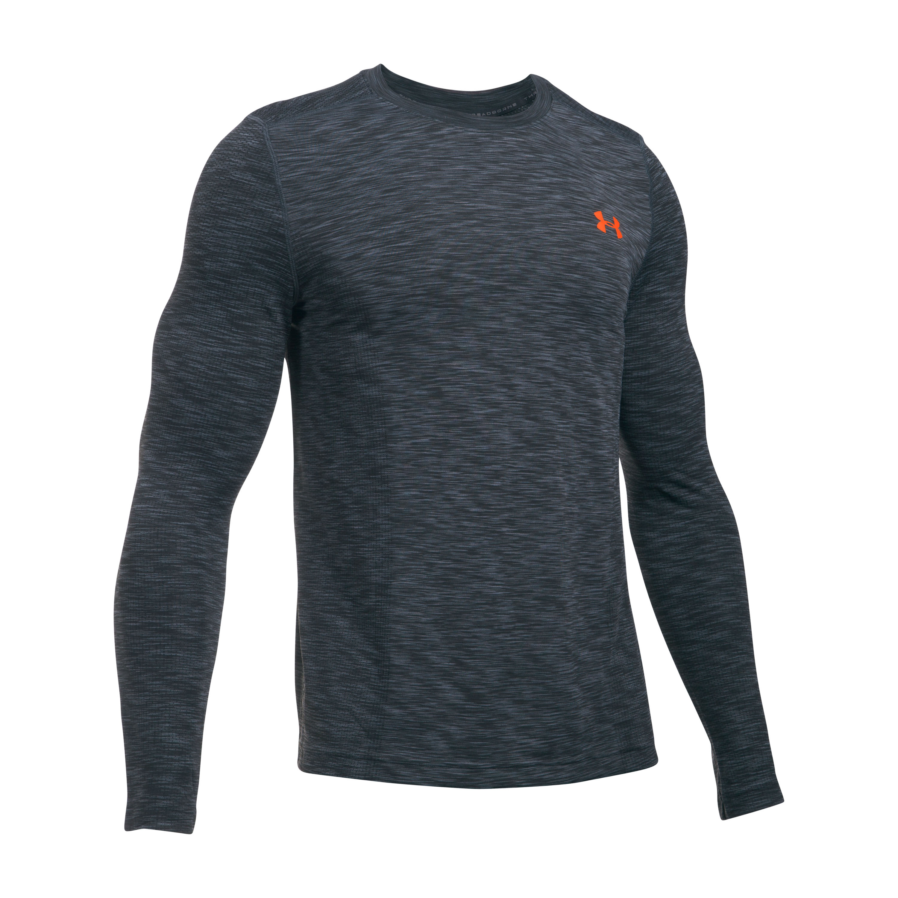 Under Armour Fitness Langarmshirt Threadborne Seamless grau rot