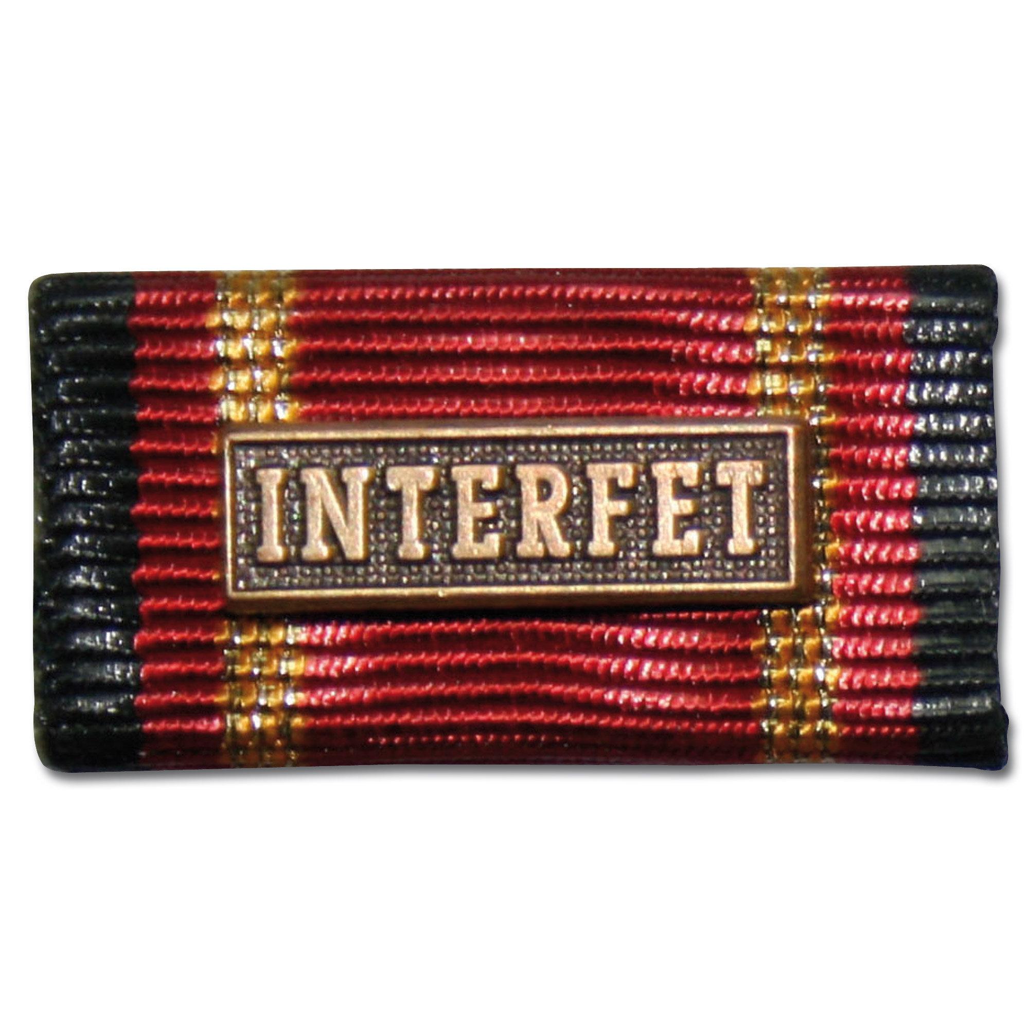 Ordensspange Auslandseinsatz INTERFET bronze