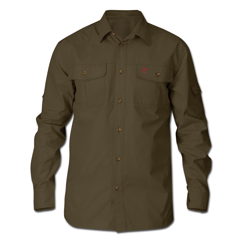 Fjällräven Sarek Trekking Shirt dunkeloliv