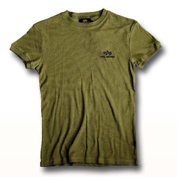 T-Shirt Alpha Industries Sport Rib oliv