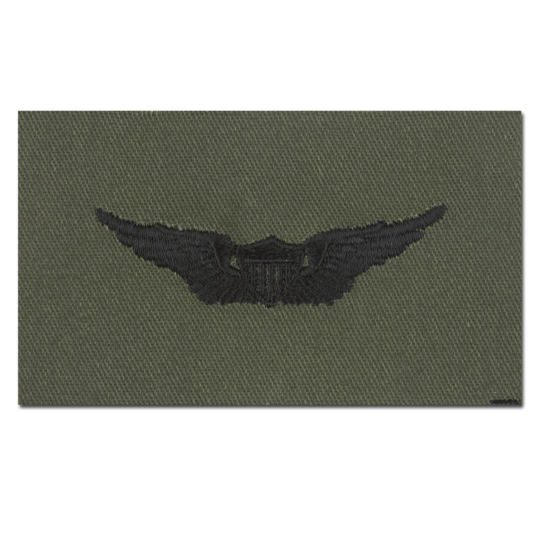 Abzeichen US Aviator Textil oliv