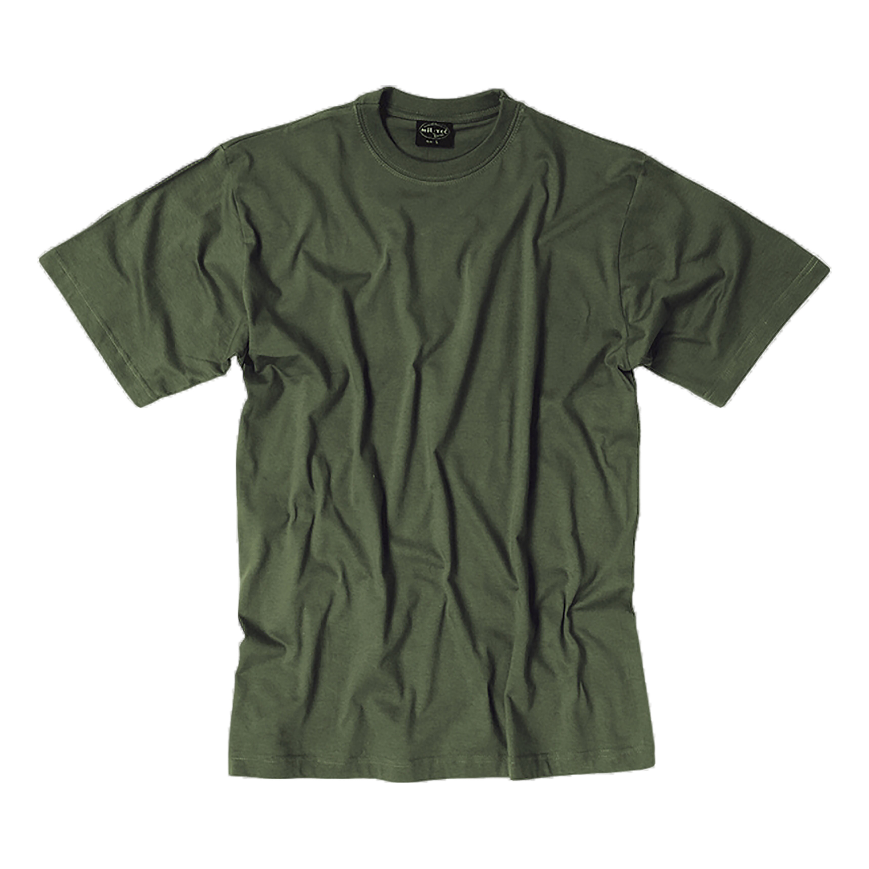 T-Shirt US Style grau-oliv