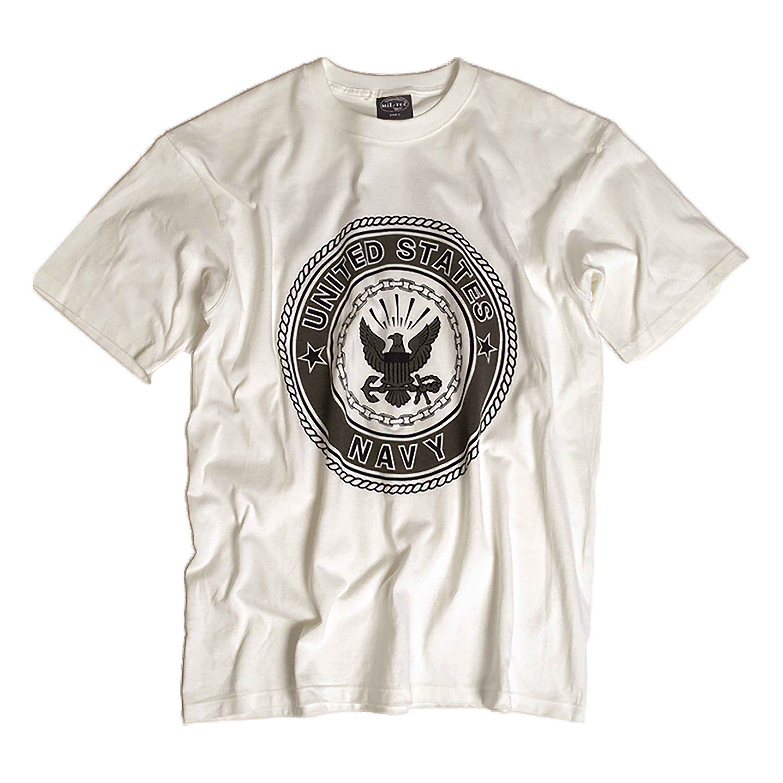 US T-Shirt NAVY weiß