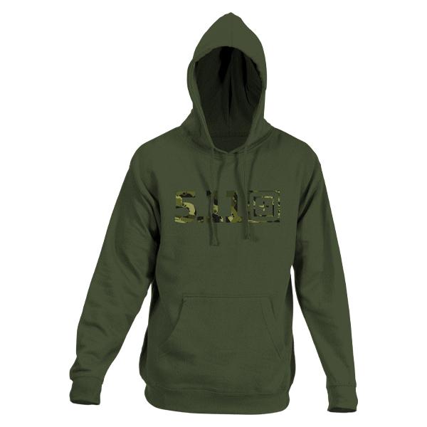 5.11 Pullover Camo Logo Hoodie grün