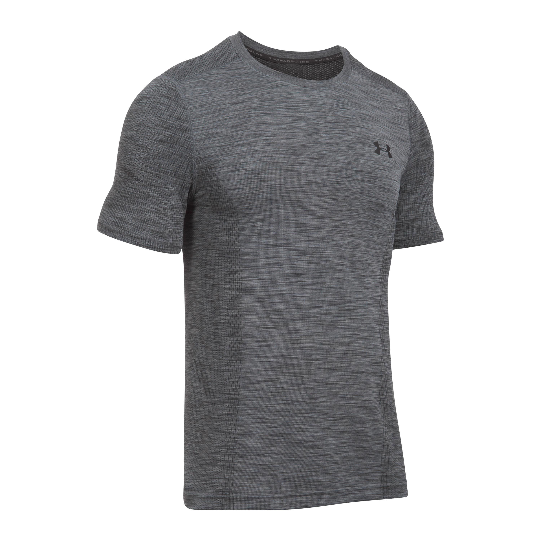 Under Armour Fitness Shirt Threadborne grau schwarz