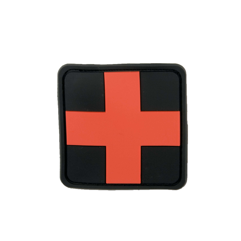 3D-Patch Red Cross Medic schwarz-rot