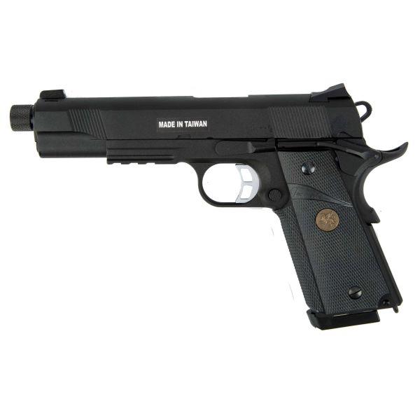 KJ Works Airsoft Pistole M1911 MEU TBC Full Metal GBB schwarz