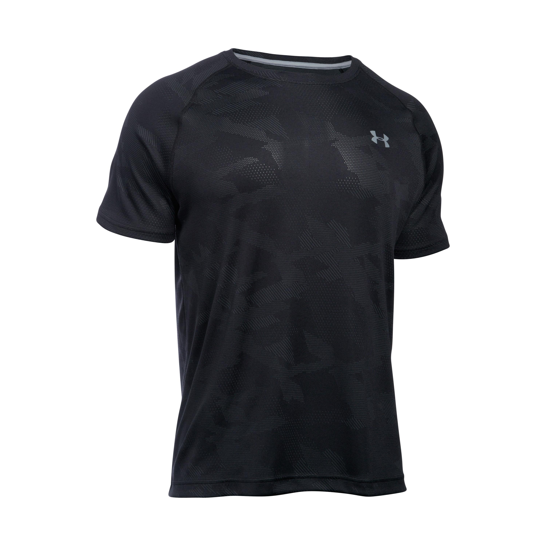 Under Armour Shirt Tech Jacquard SS schwarz