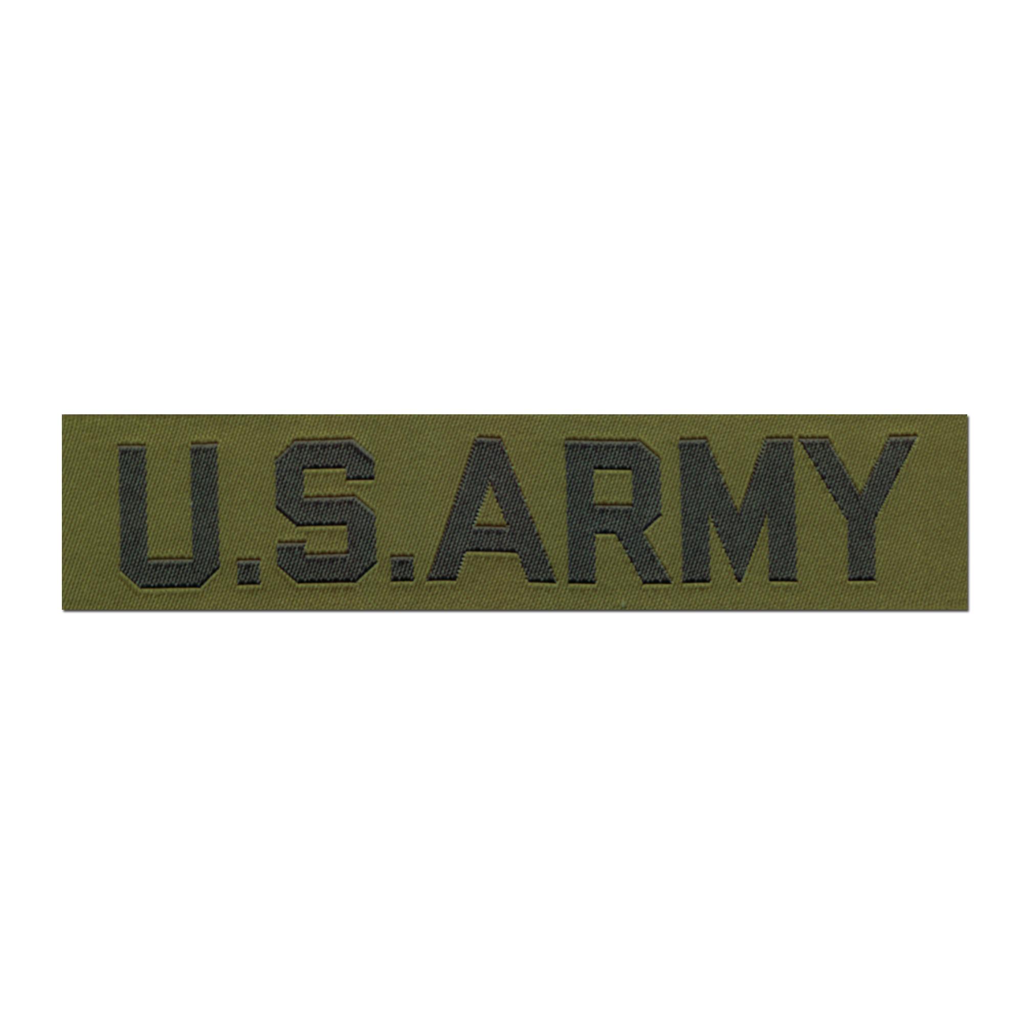 Abzeichen US Textil Branch ARMY oliv