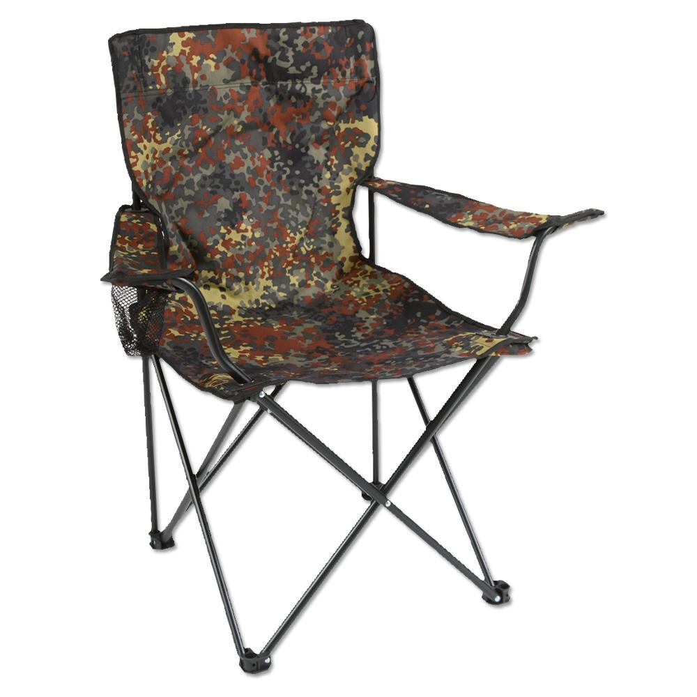 Klappstuhl flecktarn mit Stahlgestänge