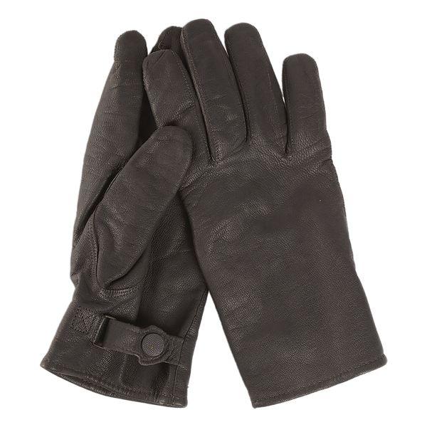 BW Handschuhe Ziegenleder gefüttert schwarz