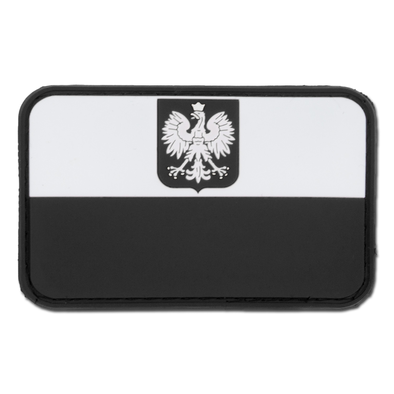 3D Patch Flagge Polen mit Wappen swat