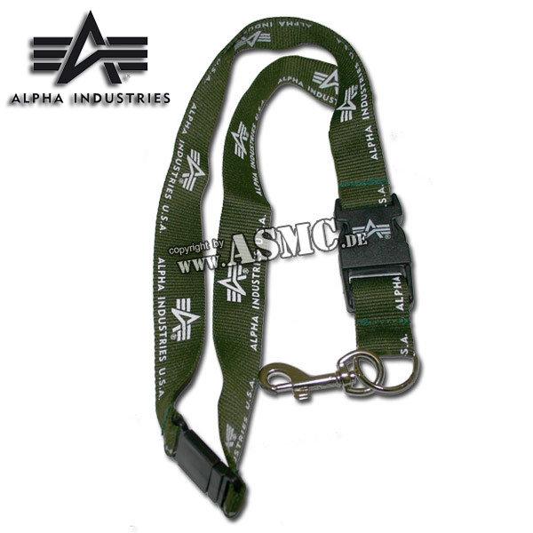 Halsband mit Schlüsselanhänger Alpha oliv