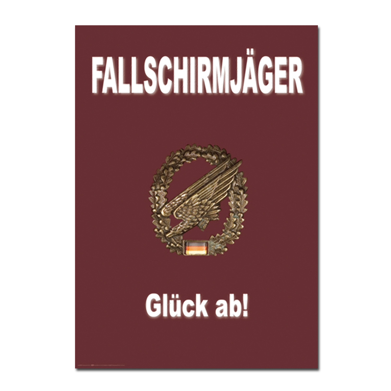 Poster Fallschirmjäger Glück ab