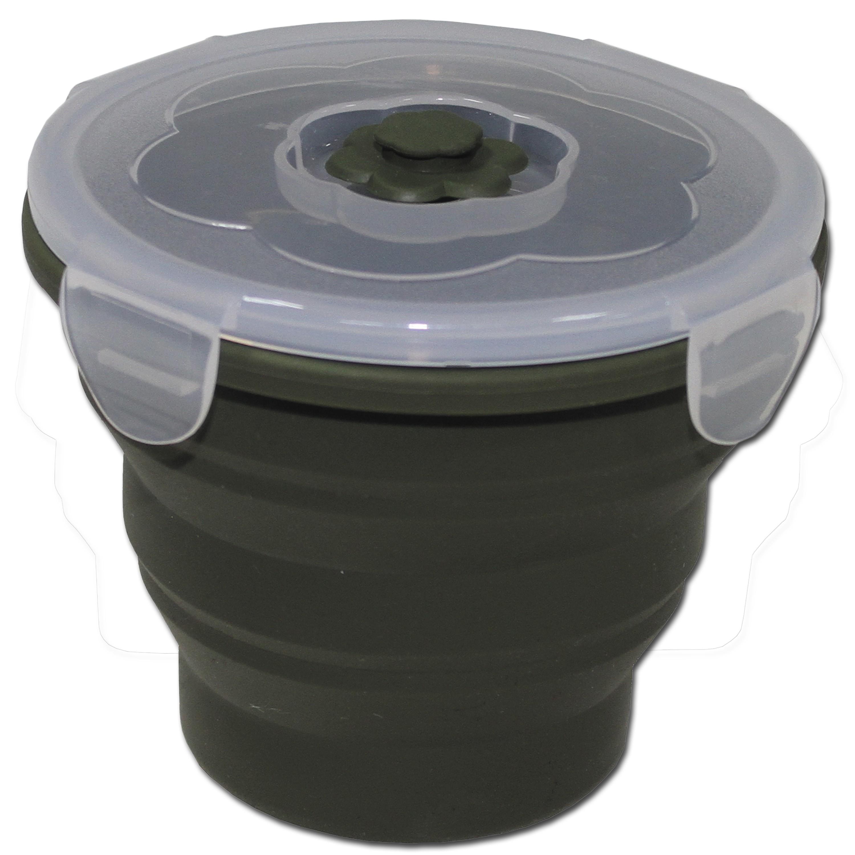 Essensbehälter MFH faltbar 660 ml rund oliv