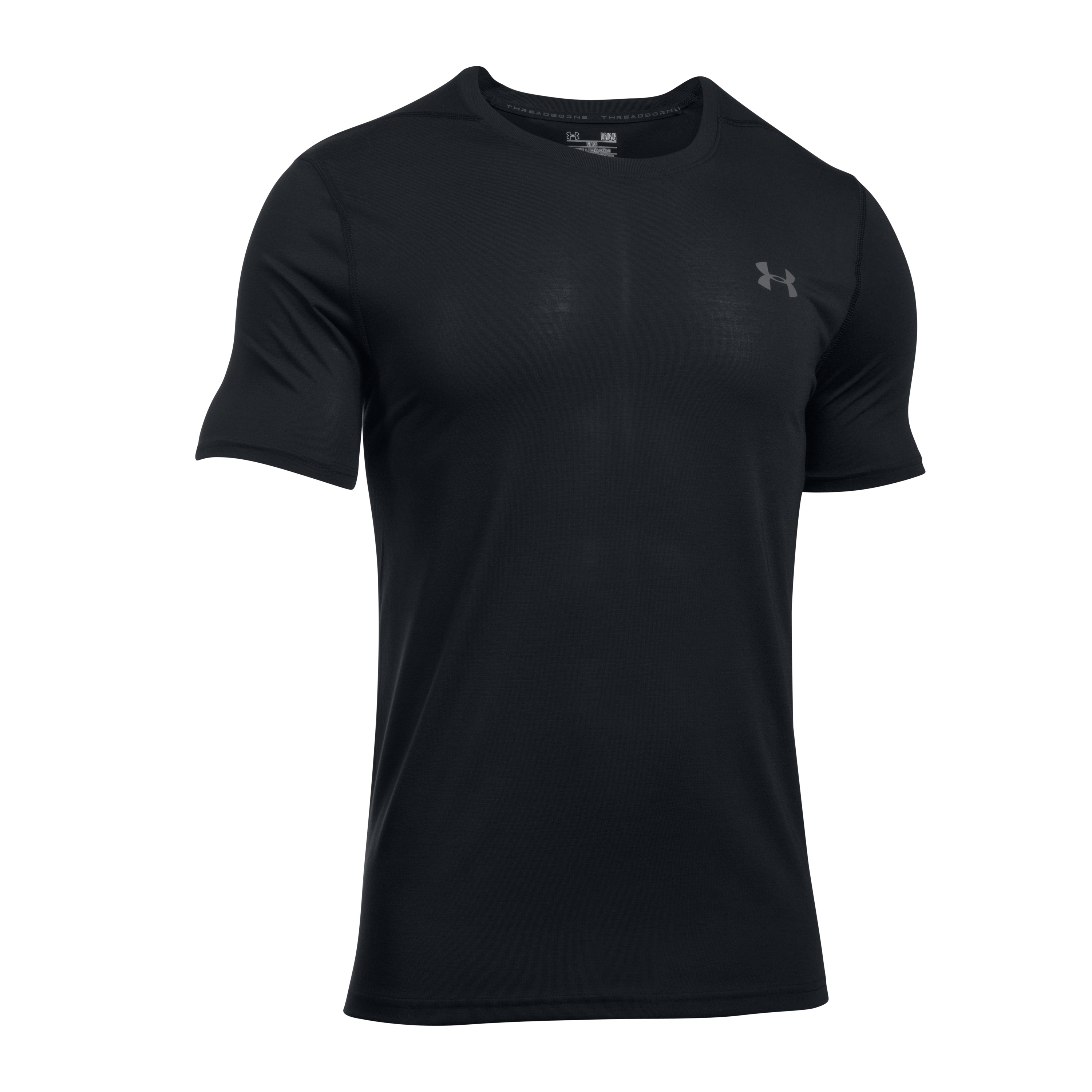 Under Armour Fitness Shirt Threadborne Fitted schwarz