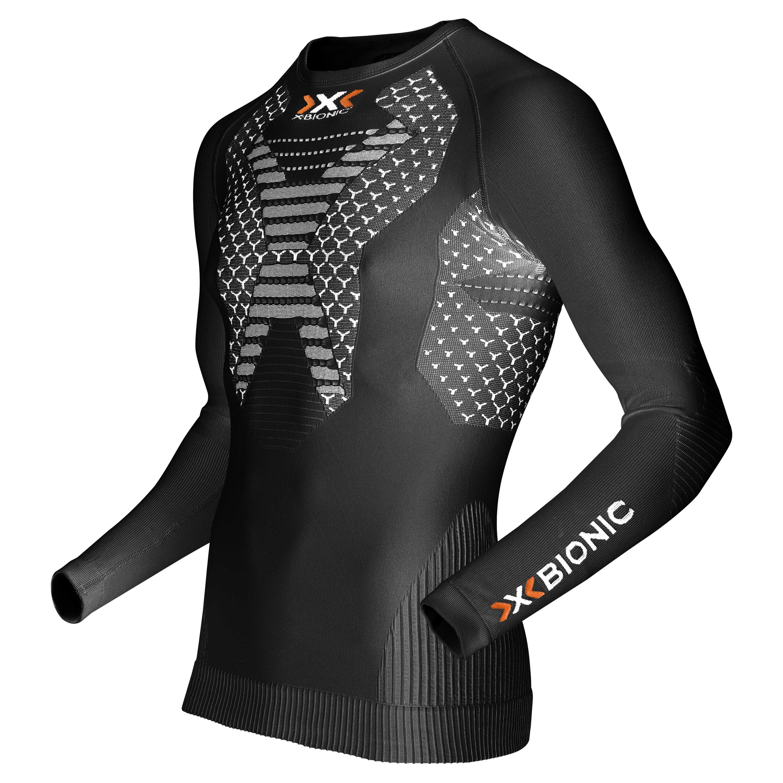 X-Bionic Langarmshirt Running Man Twyce schwarz weiß
