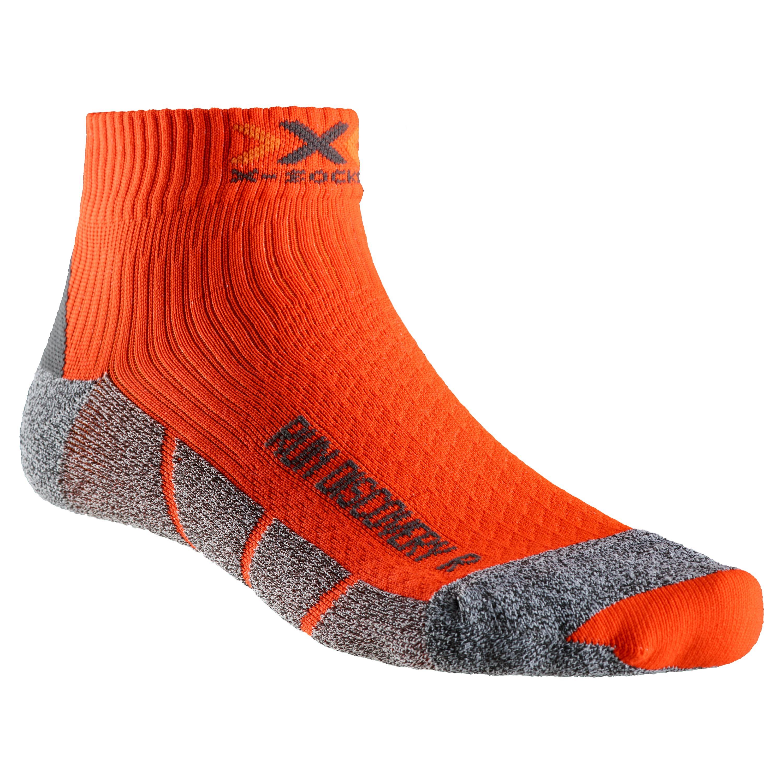 X-Socks Socken Running Discovery 2.1 orange schwarz