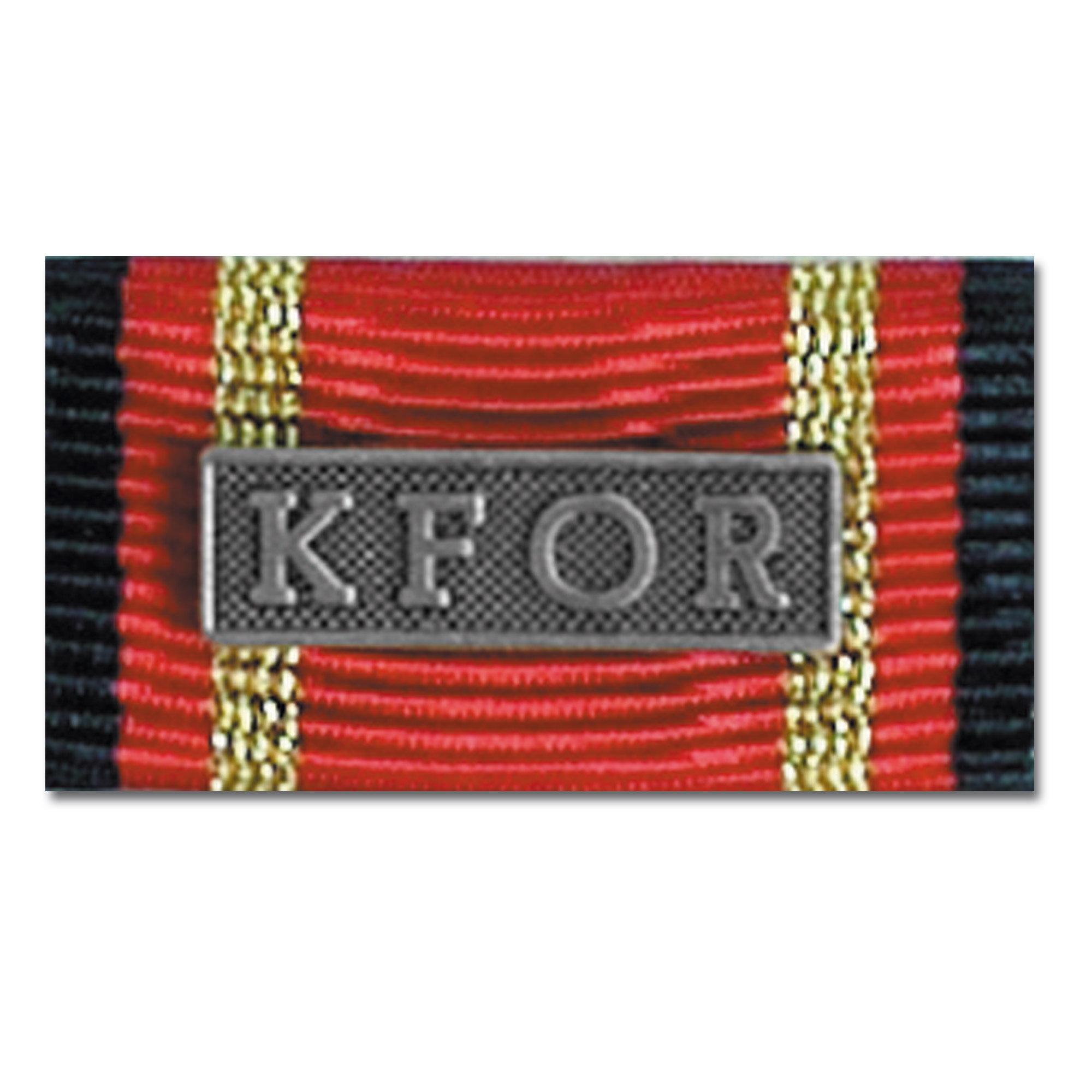 Ordensspange Auslandseinsatz KFOR silber