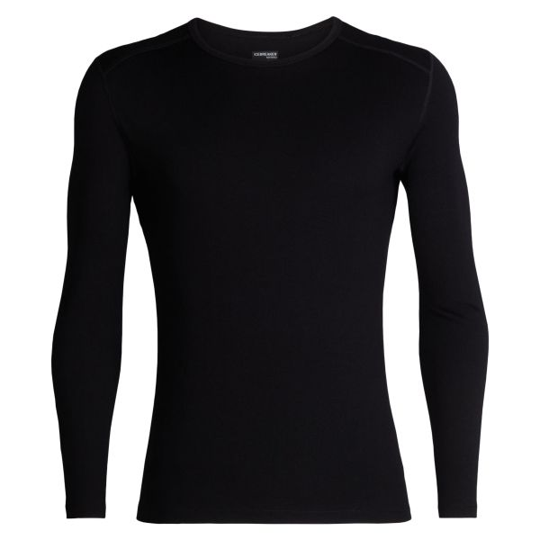 Icebreaker Long Sleeve Tech Crewe schwarz