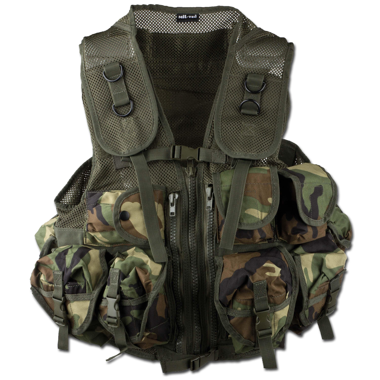 Einsatzweste Tactical Mil-Tec woodland