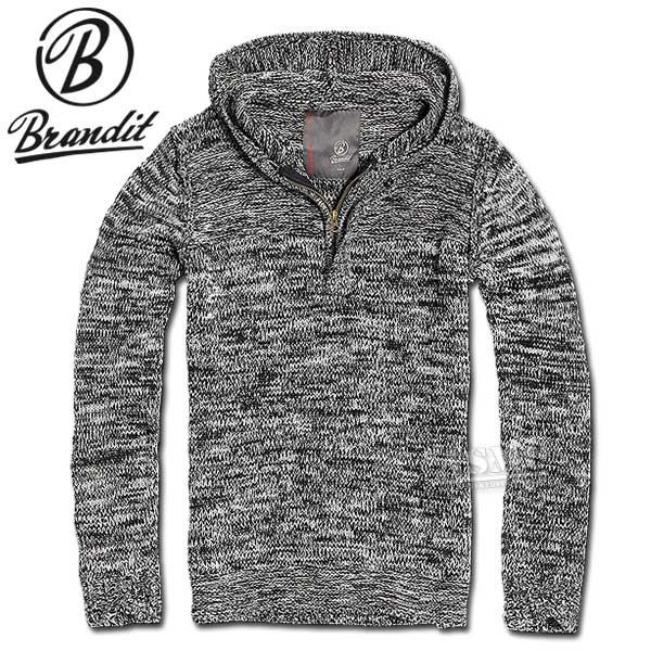 Foster Hill-Sweater Brandit schwarz-grau