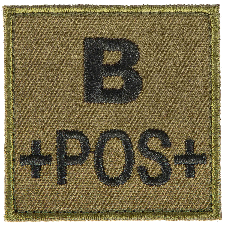 T.O.E Blutgruppenpatch Blutgruppe B positiv grün