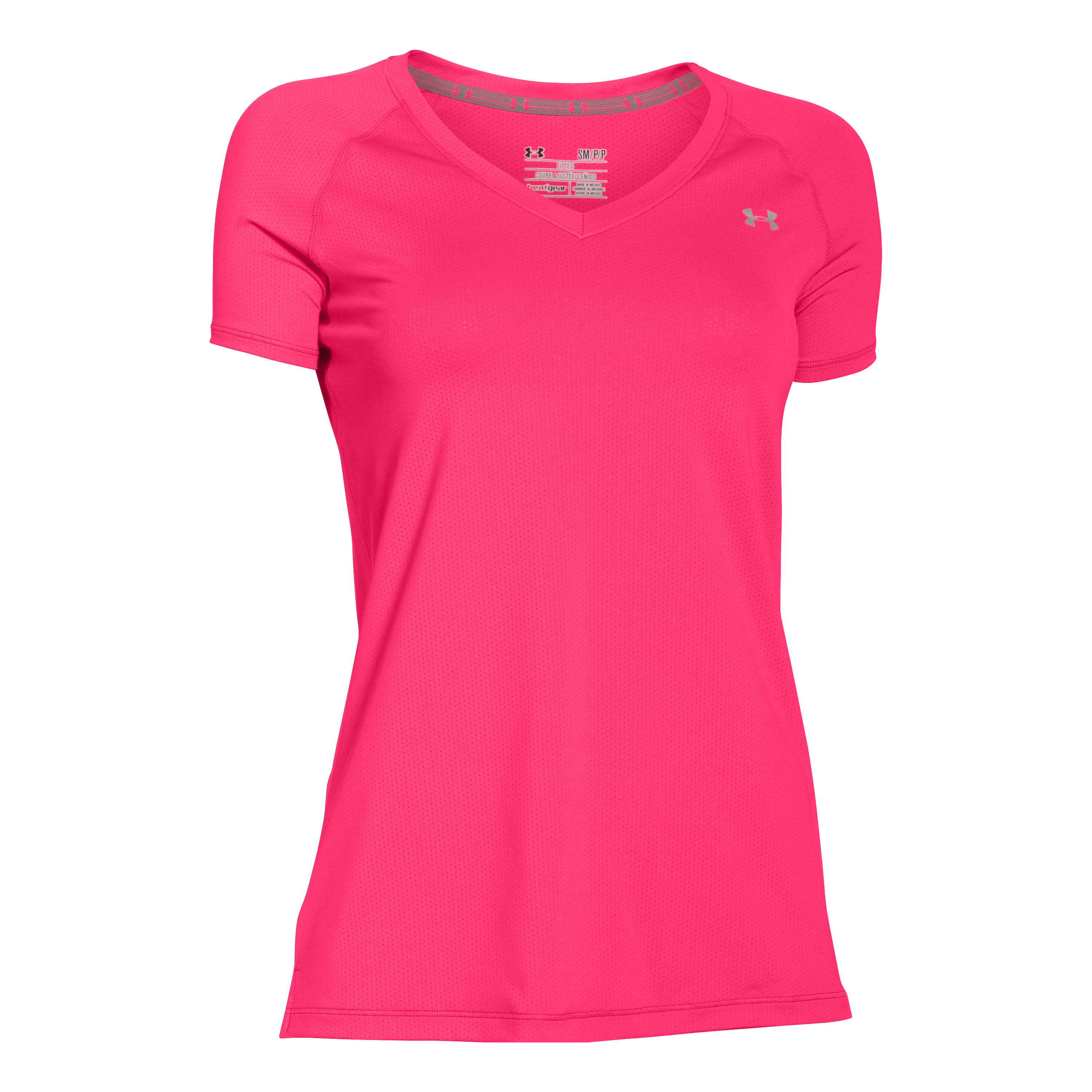 Under Armour Women T-Shirt HeatGear Armour pink