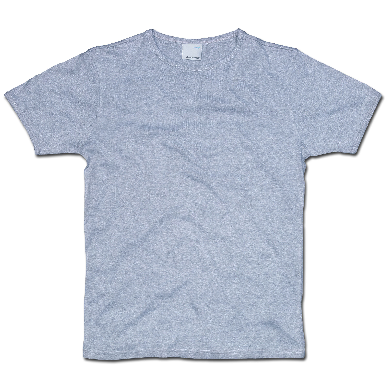 T-Shirt Vintage Industries Morrow hellgrau