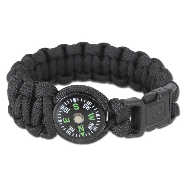 Rothco Bracelet W/Compass Schwarz