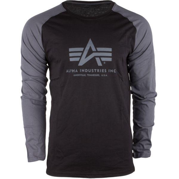 Alpha Industries Langarmshirt Basic schwarz grau