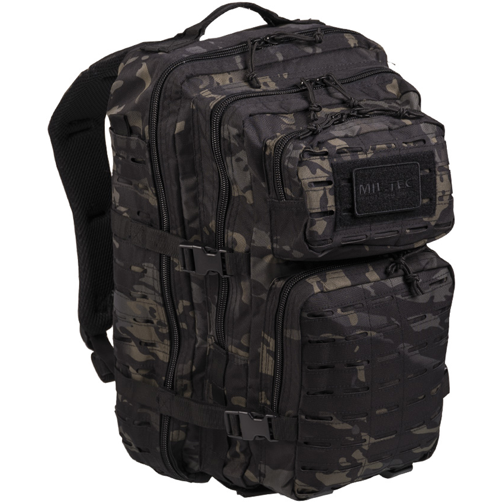 Rucksack US Assault Pack LG Laser Cut multitarn black