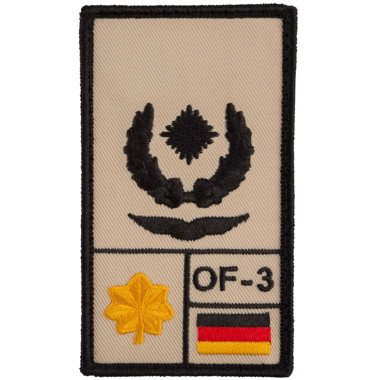 Café Viereck Rank Patch Major Luftwaffe sand