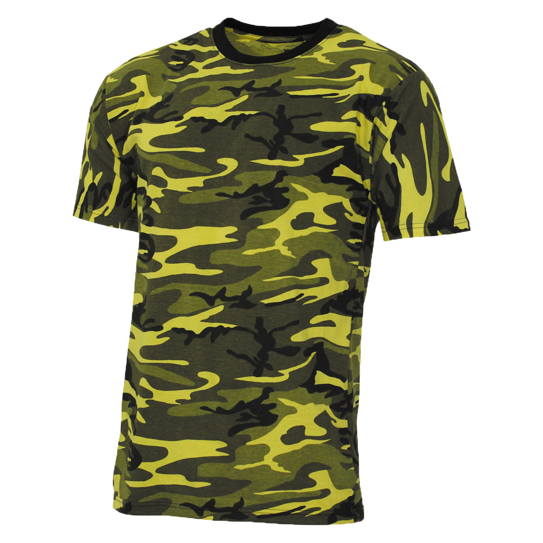 MFH T-Shirt US Streetstyle yellow-camo