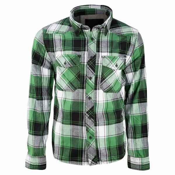 Brandit Checkshirt Oversize weiß grün