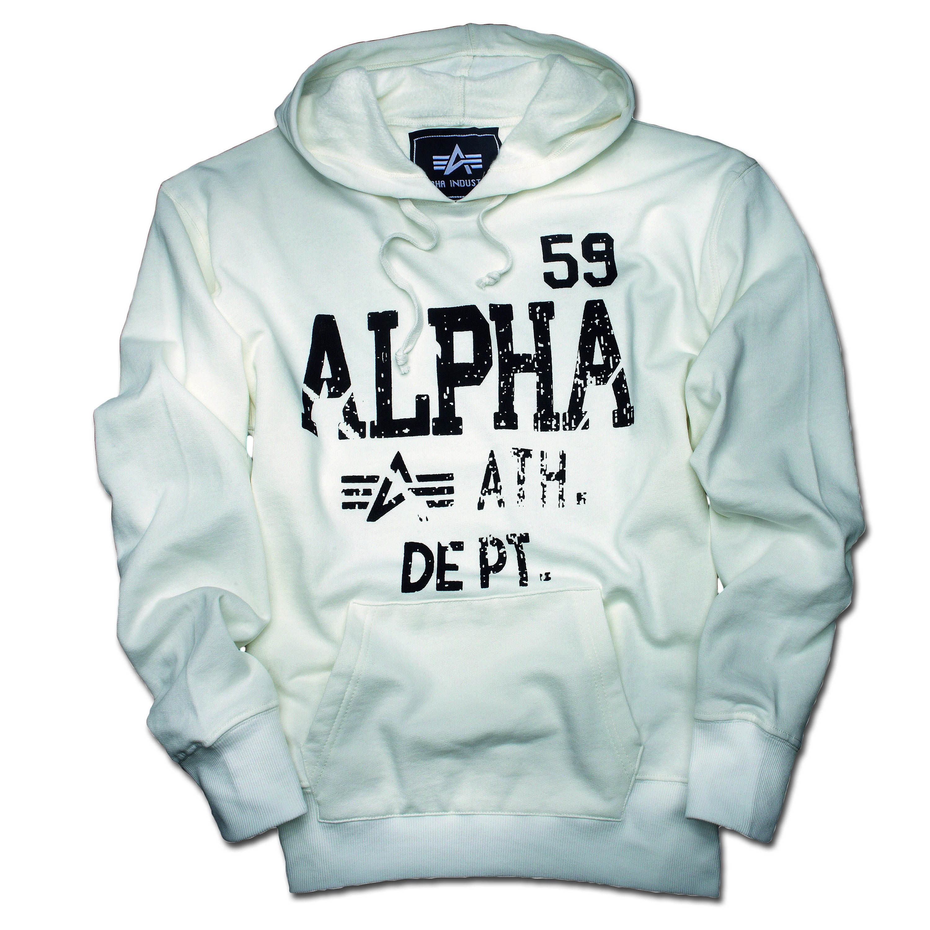 Alpha Industries Athletic Dept. Hooded Jacket weiss