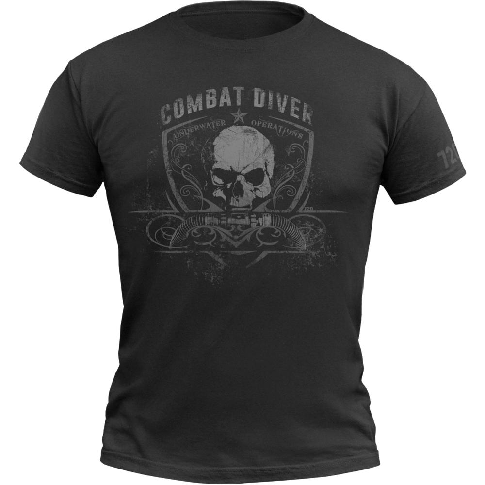 720gear T-Shirt Combat Diver schwarz