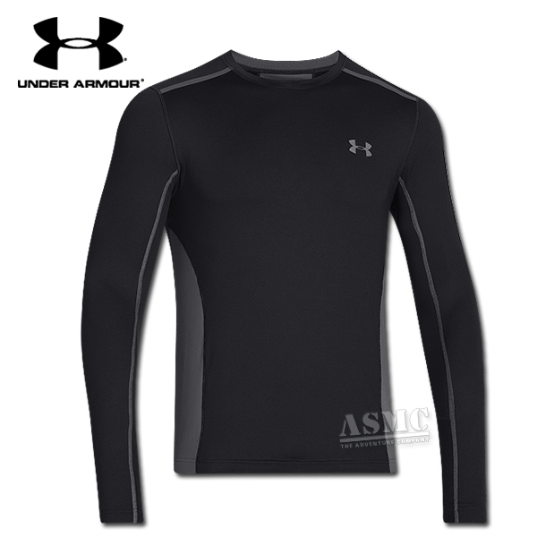 Under Armour Cold Gear Longsleeve Armour Vent Crew schwarz grau