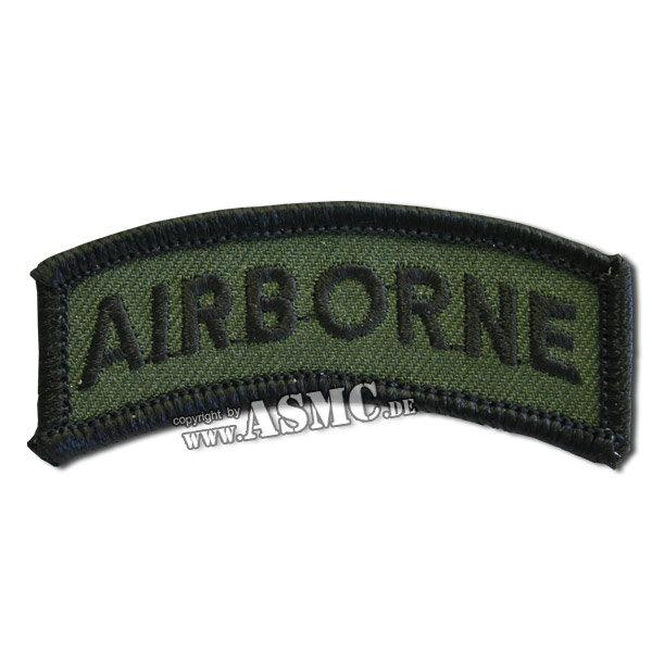 Armabzeichen US Airbone oliv/schwarz