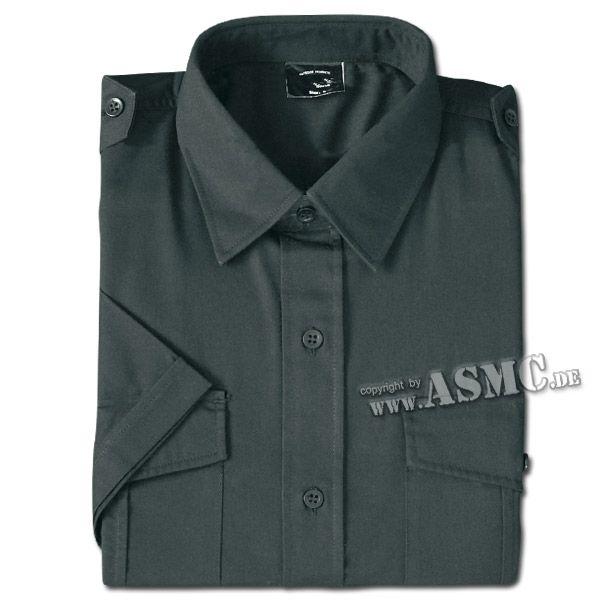 Diensthemd Kurzarm schwarz