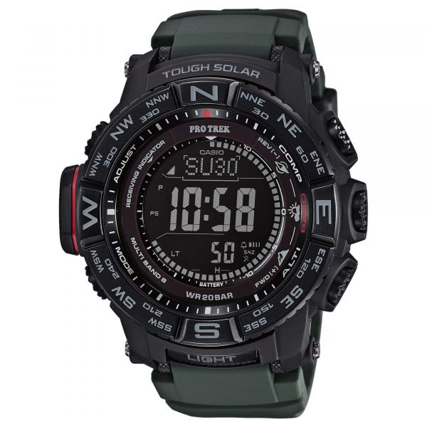 Casio Uhr Pro Trek Monte Rosa PRW-3510Y-8ER schwarz oliv