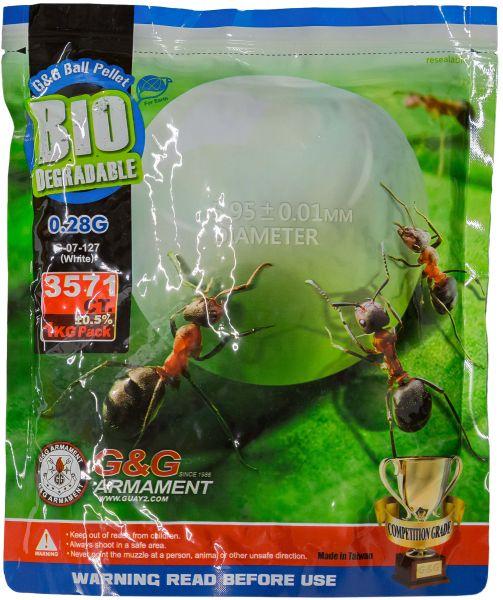 G&G Bio Airsoft BBs 6 mm 0.28 g 3570 Stück weiß